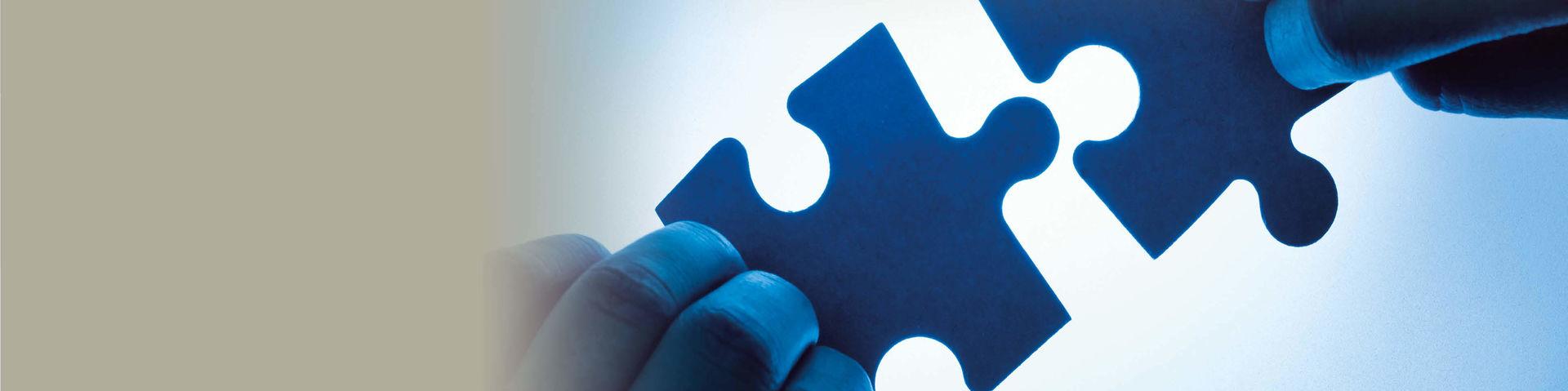 Forschung und Transfer greifen wie Puzzleteile ineinander